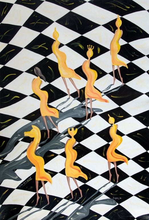 Life is a Game, Acrílico sobre lienzo, 110×160 cm